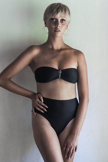 WENDY TOP | SEA BLACK - seamoneswimwear