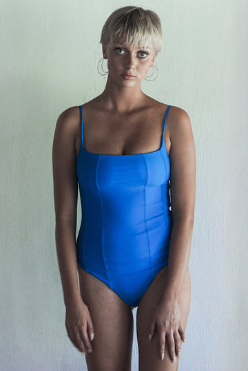 DOLORES ONE PIECE | SEA BLUE - seamoneswimwear