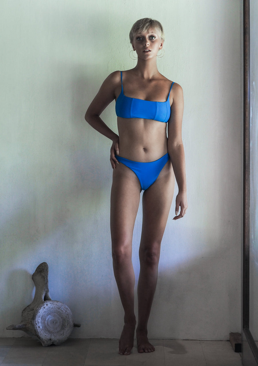 NANCY TOP | SEA BLUE - seamoneswimwear