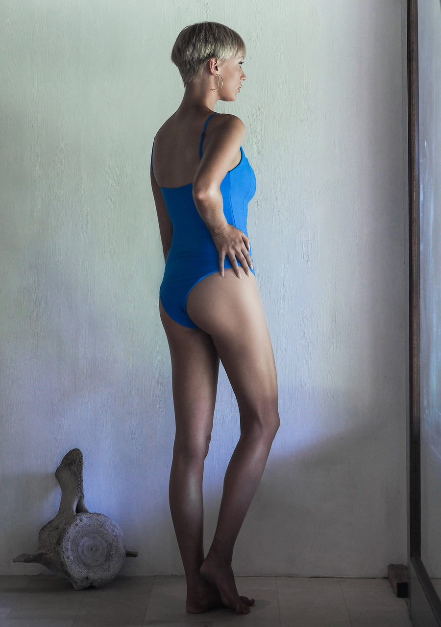 DOLORES ONE PIECE | SEA BLUE | 50% OFF - seamoneswimwear