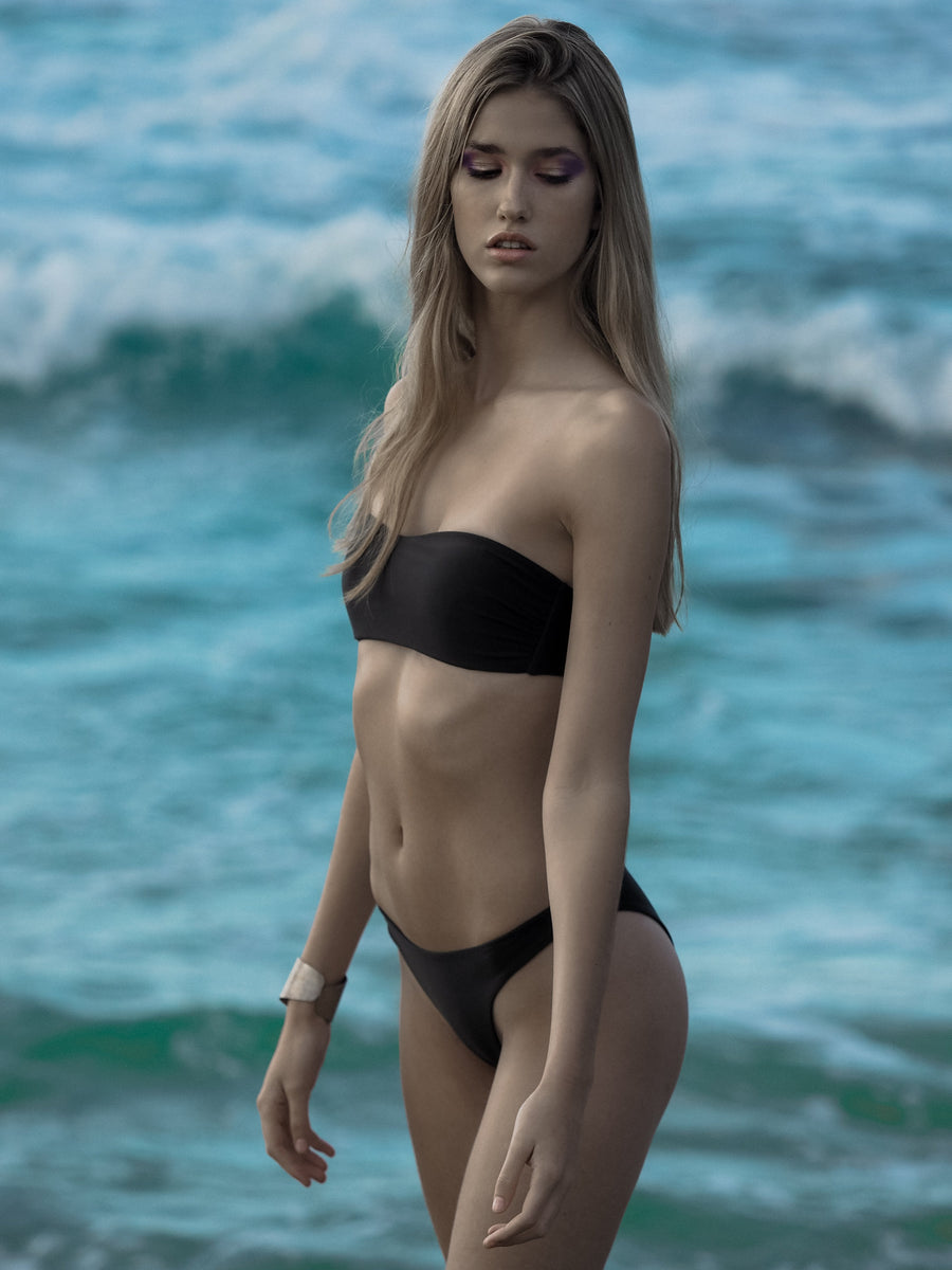 LYDIA BOTTOM | SEA BLACK | LOW IN STOCK. - seamoneswimwear