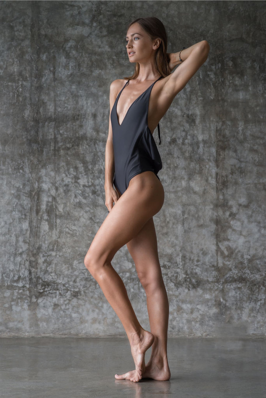 CAROLINE PIECE | INK BLACK | 50% OFF - seamoneswimwear