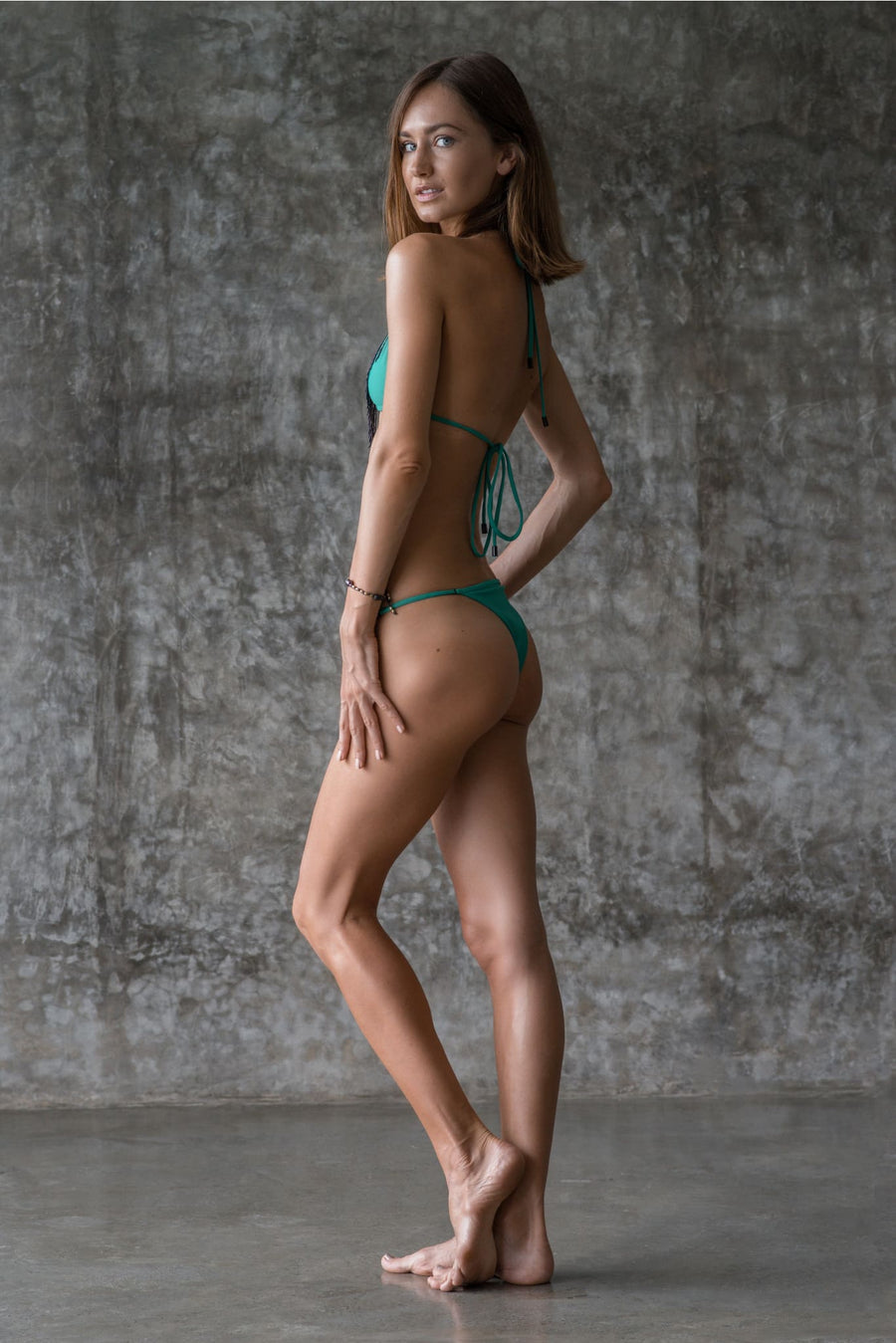DEBBIE BOTTOM | ENVY GREEN | 50% OFF - seamoneswimwear