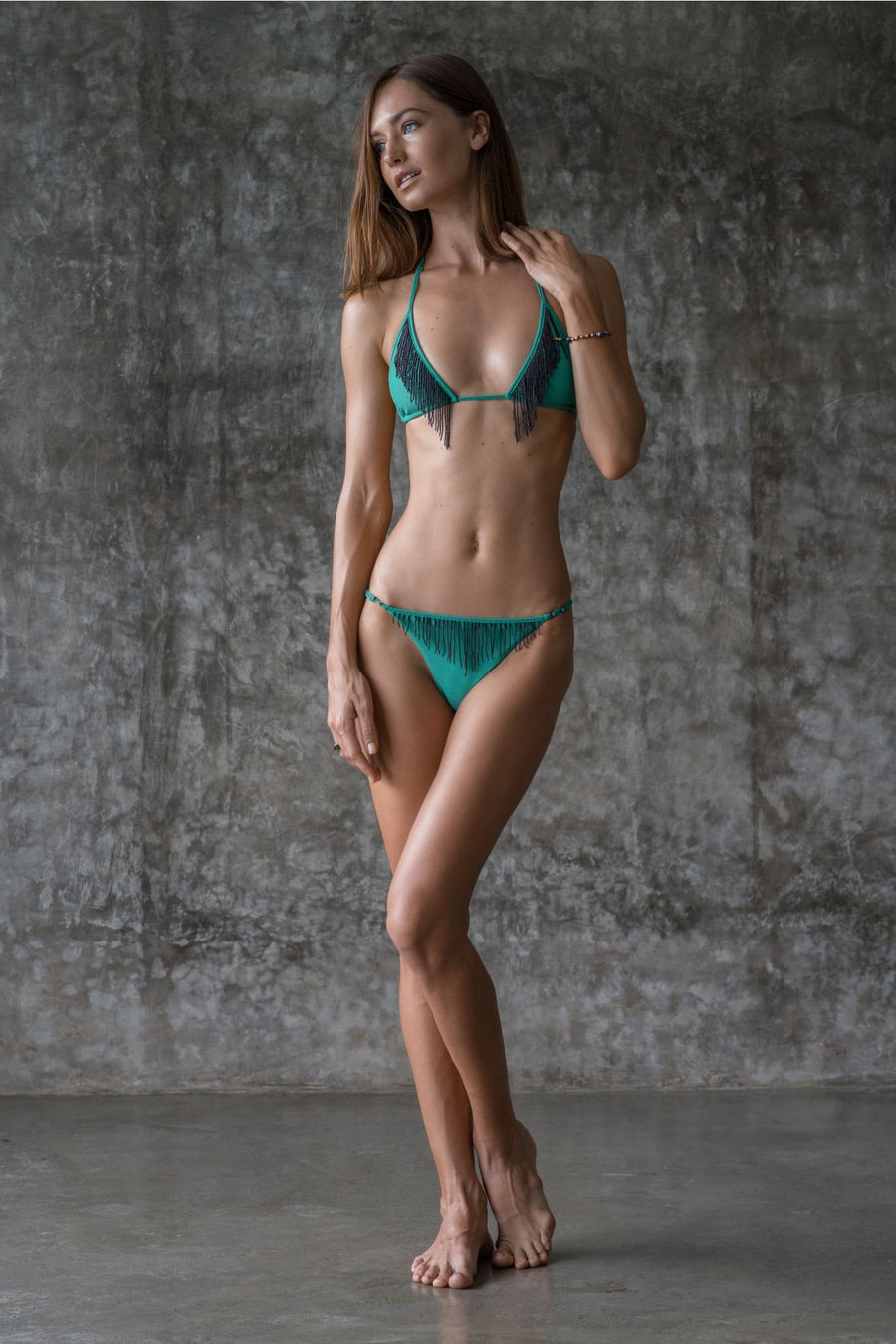 DEBBIE BOTTOM | ENVY GREEN - seamoneswimwear