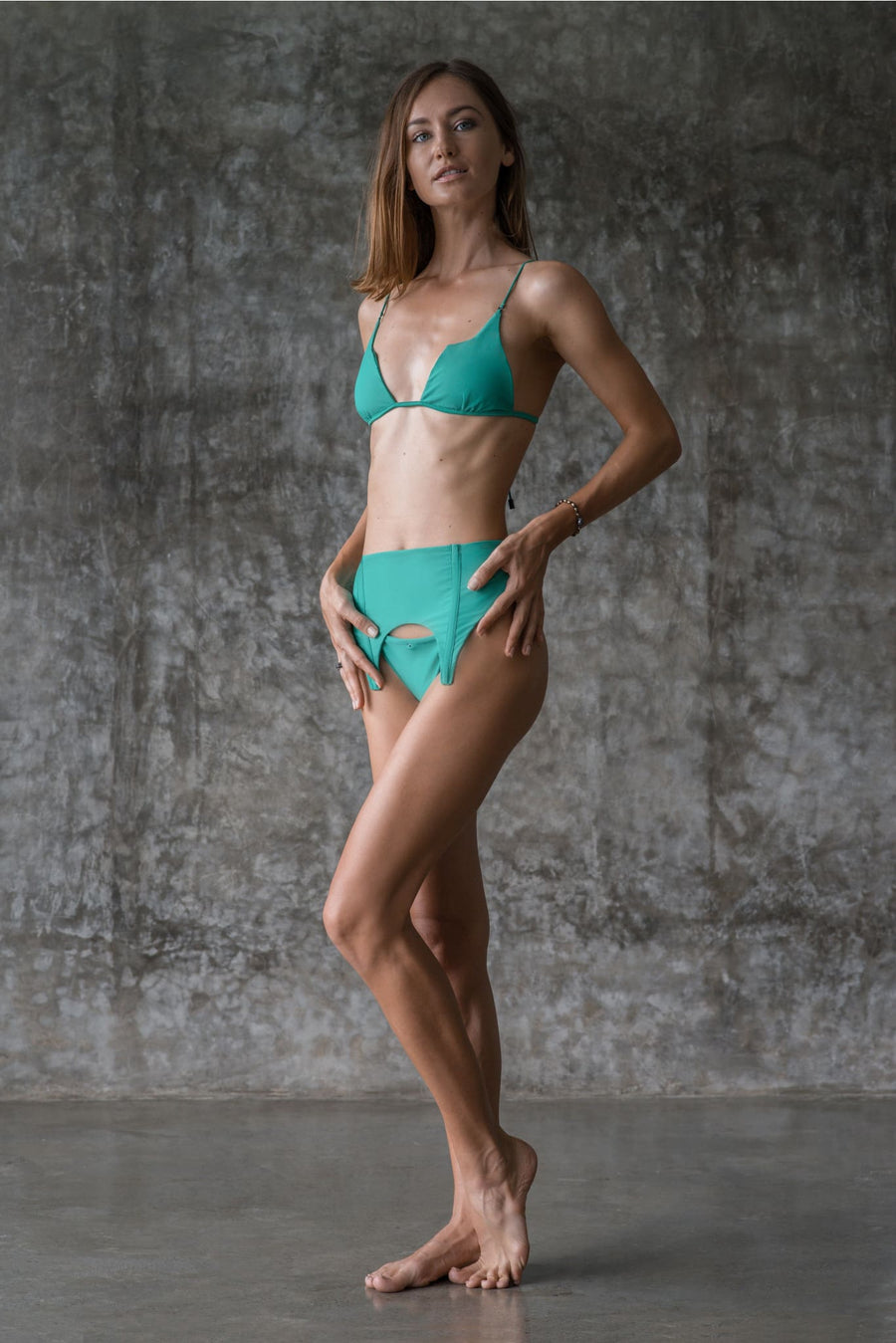 EXENE BOTTOM | ENVY GREEN - seamoneswimwear