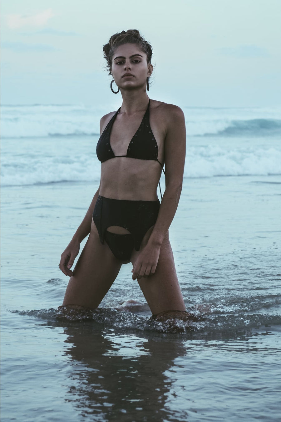 EXENE BOTTOM | INK BLACK | 50% OFF - seamoneswimwear