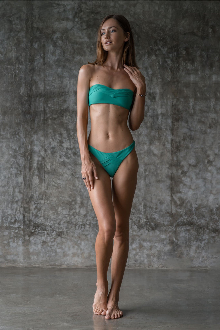 GIL BOTTOM | ENVY GREEN | 50% OFF - seamoneswimwear
