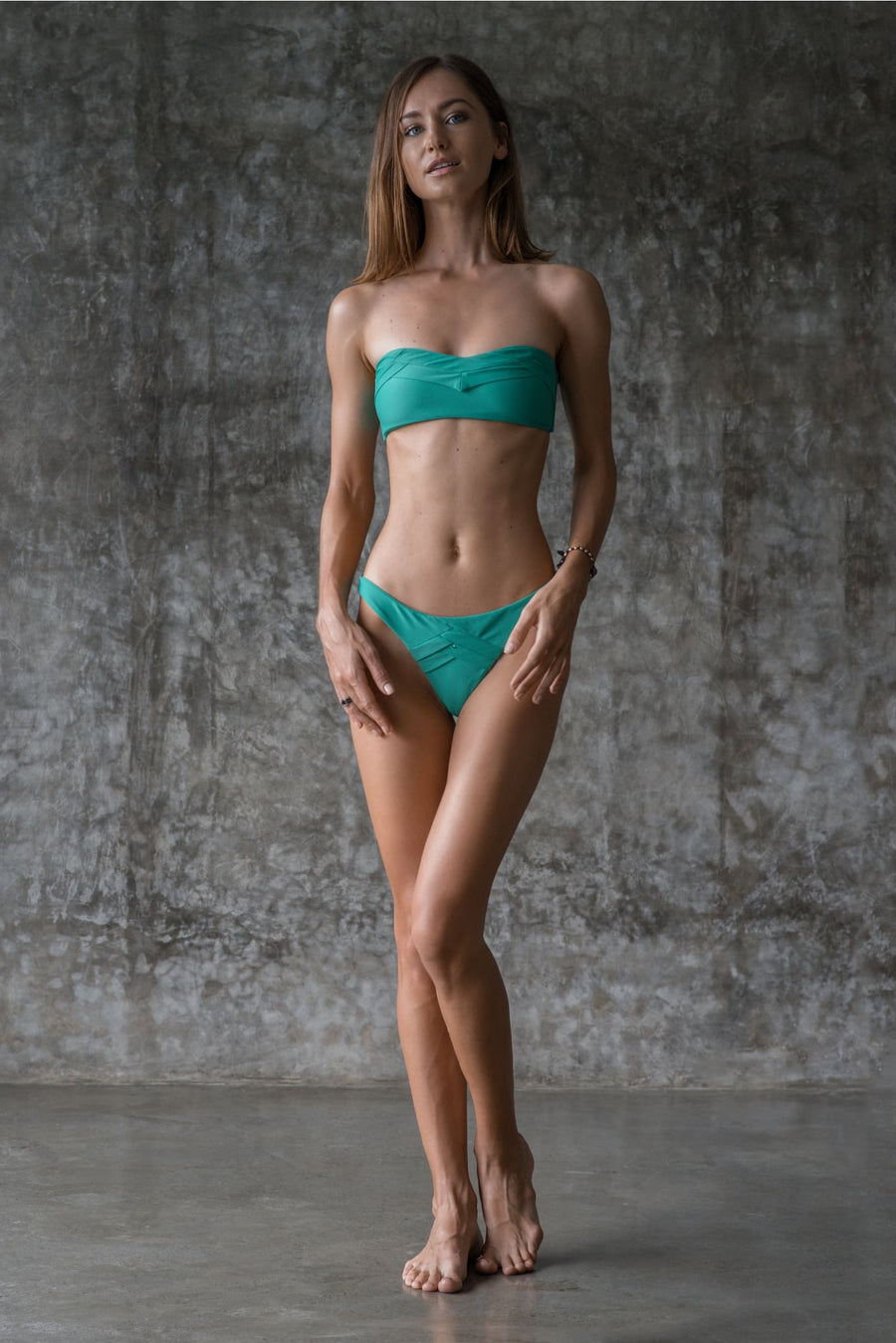 JEMIMA TOP | ENVY GREEN - seamoneswimwear