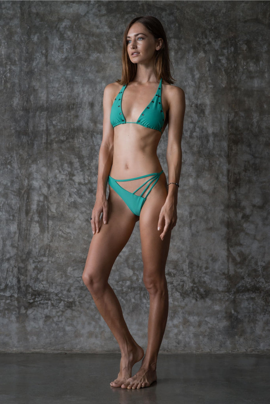 JOAN TOP | ENVY GREEN | 50% OFF - seamoneswimwear