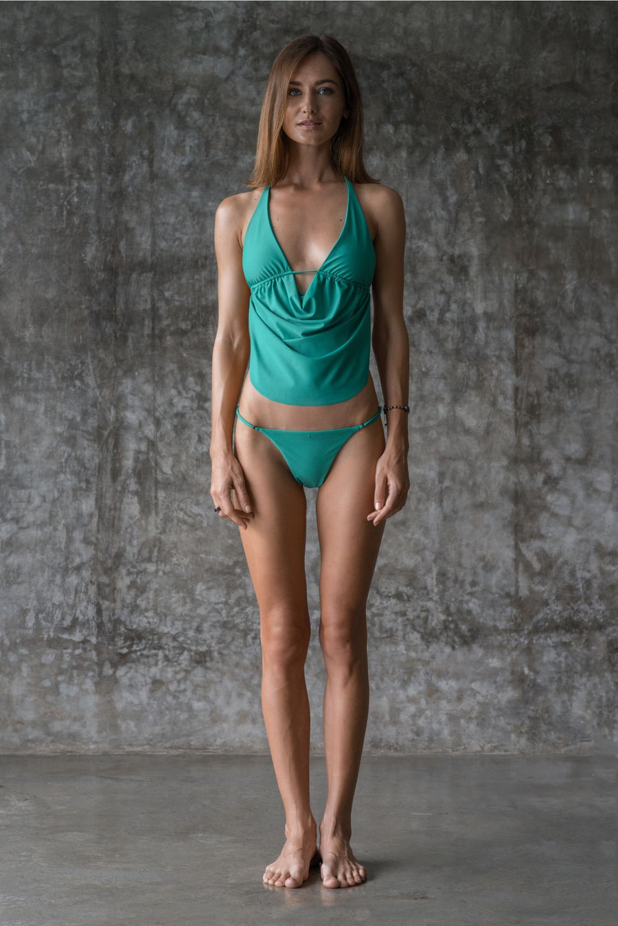 LENE TOP | ENVY GREEN - seamoneswimwear