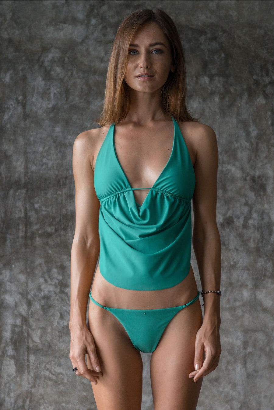 LENE TOP | ENVY GREEN | 50% OFF - seamoneswimwear