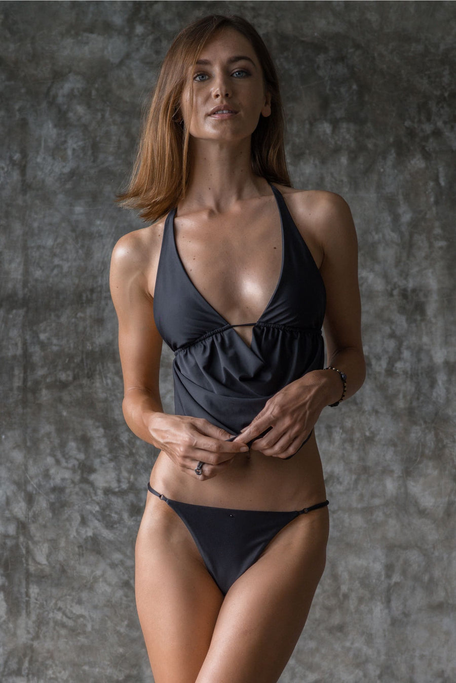 LENE TOP | INK BLACK - seamoneswimwear