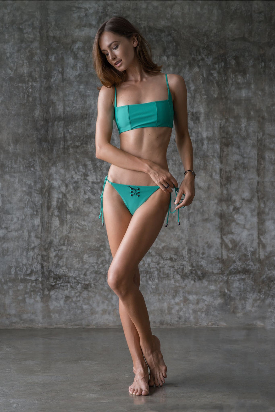NANCY TOP | ENVY GREEN - seamoneswimwear
