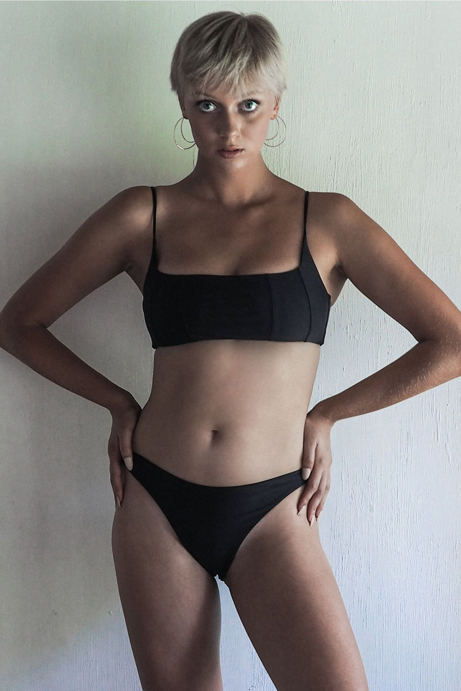 NANCY TOP | SEA BLACK - seamoneswimwear