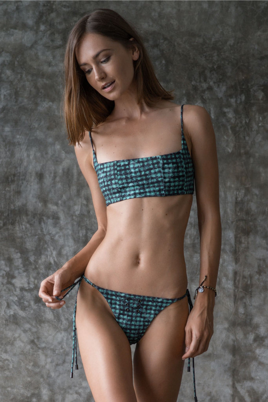 NANCY TOP | TAROT TARTAN - seamoneswimwear