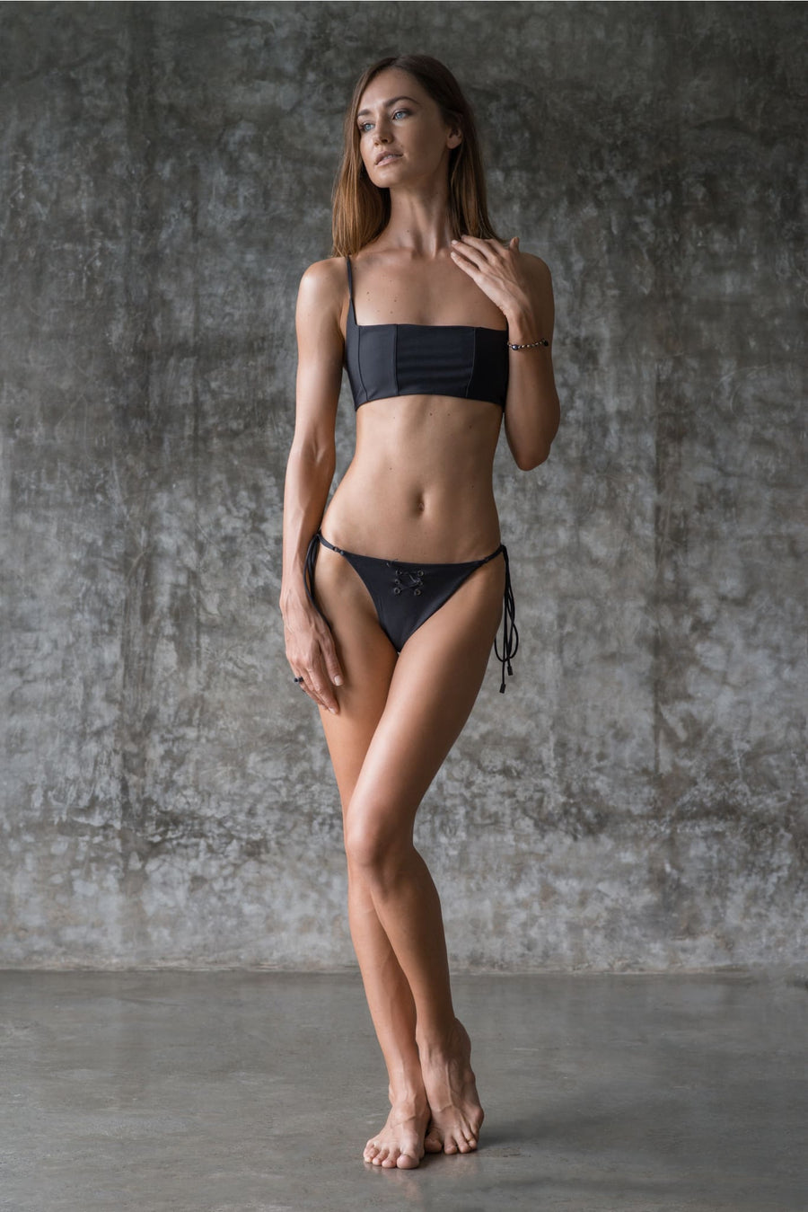 NINA BOTTOM | INK BLACK | 50% OFF - seamoneswimwear