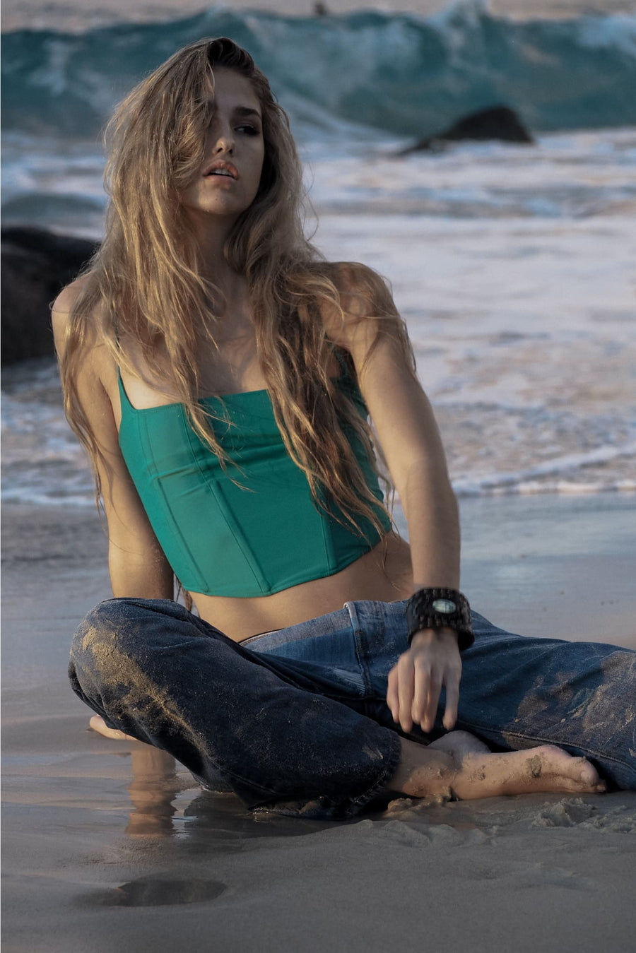 PATTI TOP | ENVY GREEN - seamoneswimwear