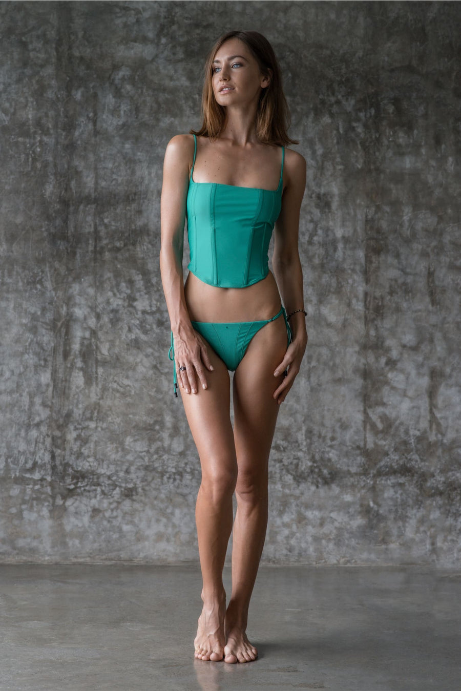 PATTI TOP | ENVY GREEN | 50% OFF - seamoneswimwear