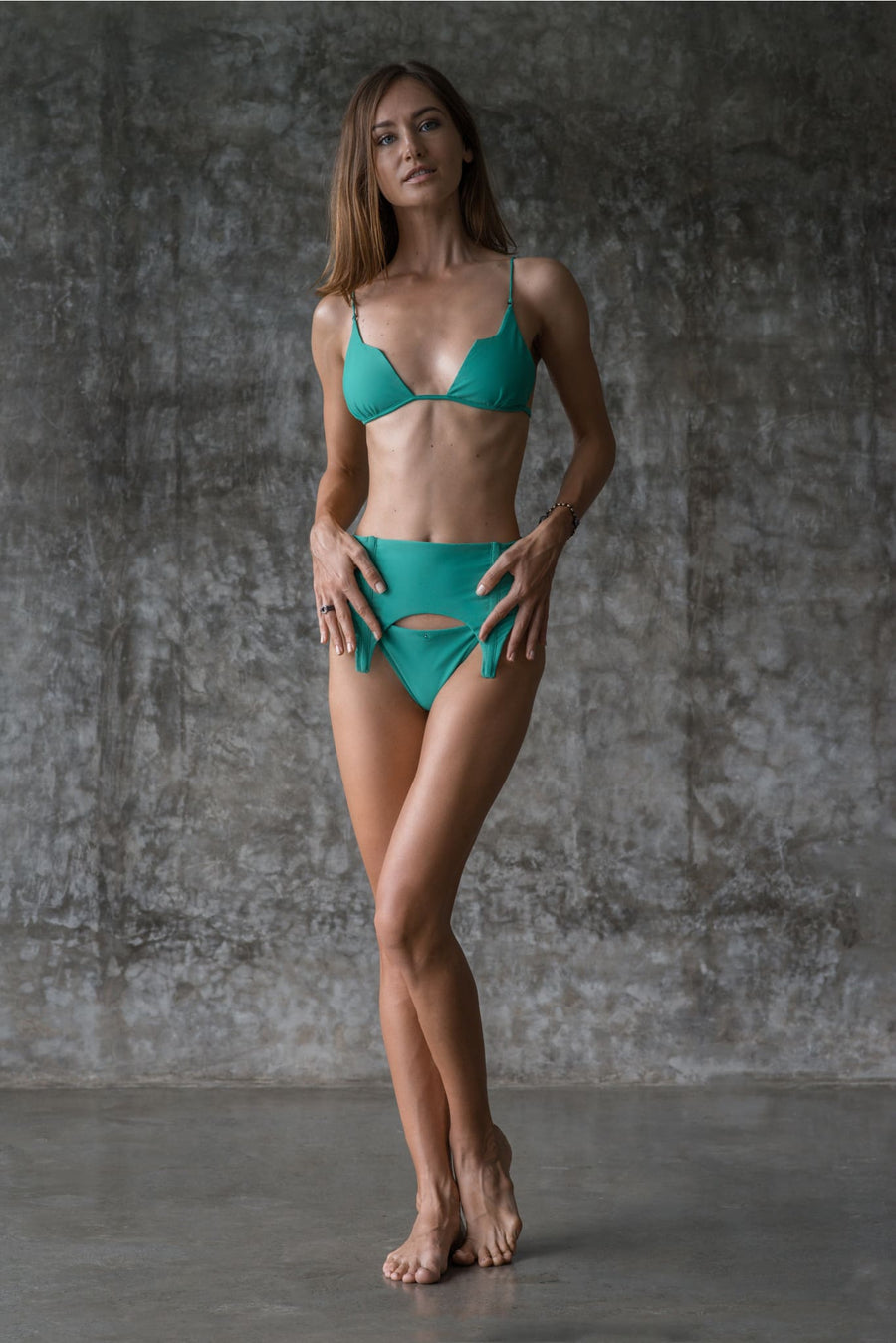 SHIRLEY TOP | ENVY GREEN | 50% OFF - seamoneswimwear