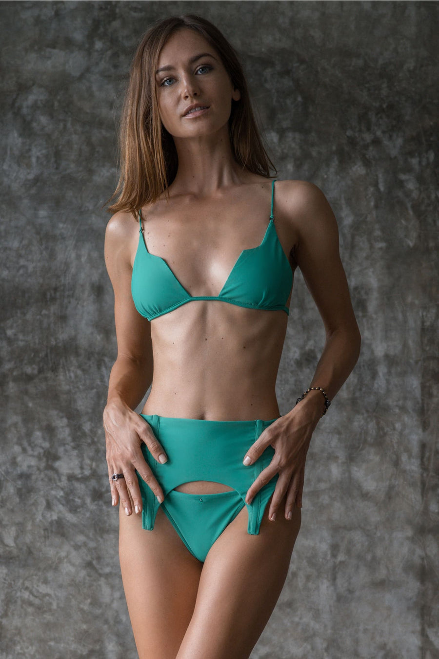 SHIRLEY TOP | ENVY GREEN - seamoneswimwear