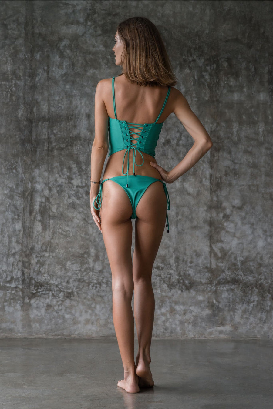 VIV BOTTOM | ENVY GREEN | 50% OFF - seamoneswimwear