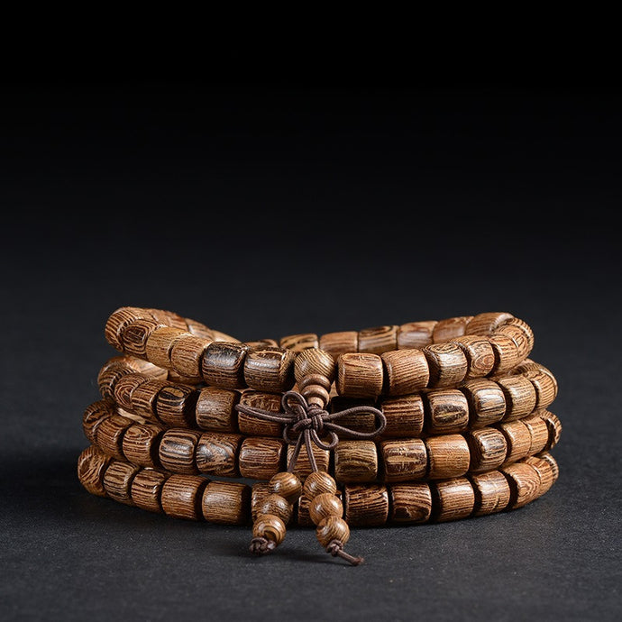 Mala Beads: Hand Carved Wooden Mala