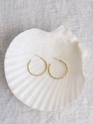 Sable Fine Twisted Hoops