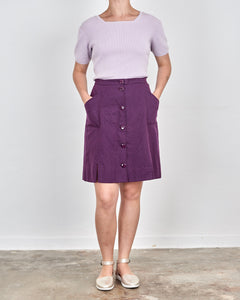 Iris Button Up Skirt