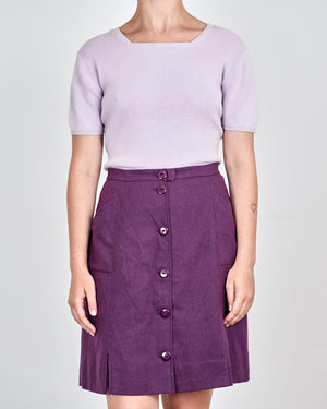 Iris Button Up Vintage Wool Skirt