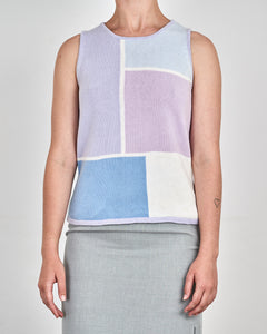 Lilac Mondrian Cotton Top