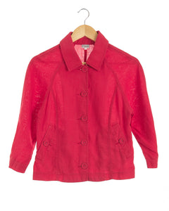 Fire Engine Red Linen Jacket