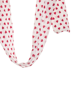 Heart Print Hair Ribbon