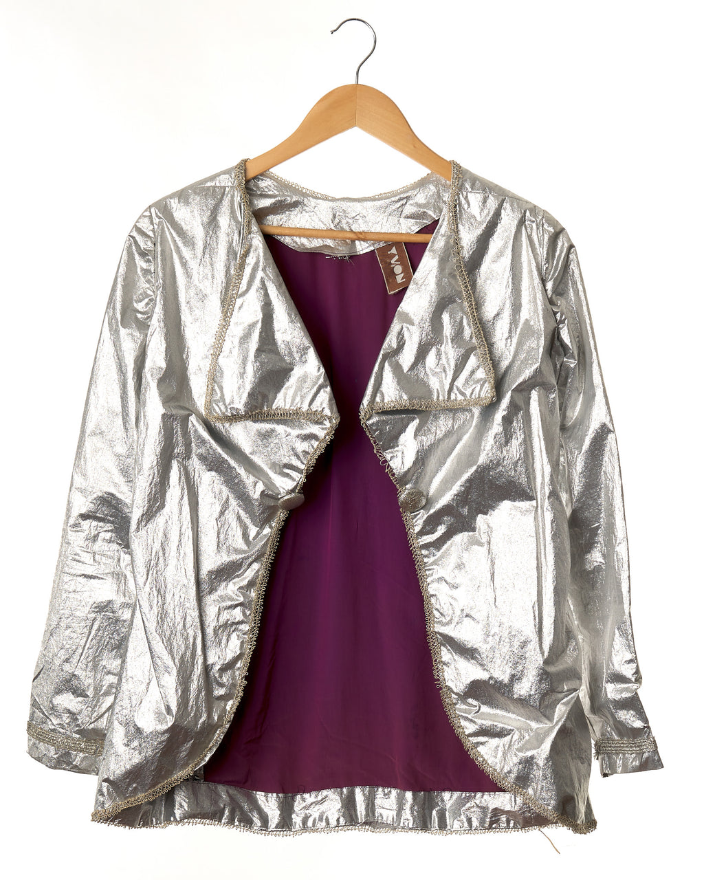 Metallic Silver Vintage Jacket