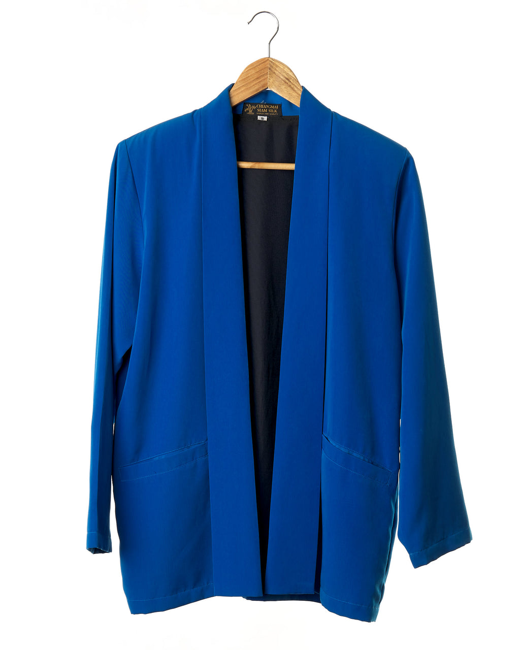 Electric Blue Silk Vintage Jacket
