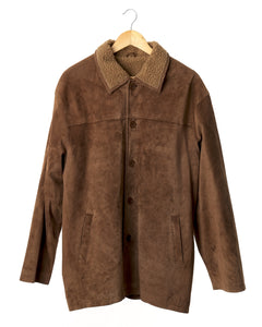 Tan Suede Sherpa Coat