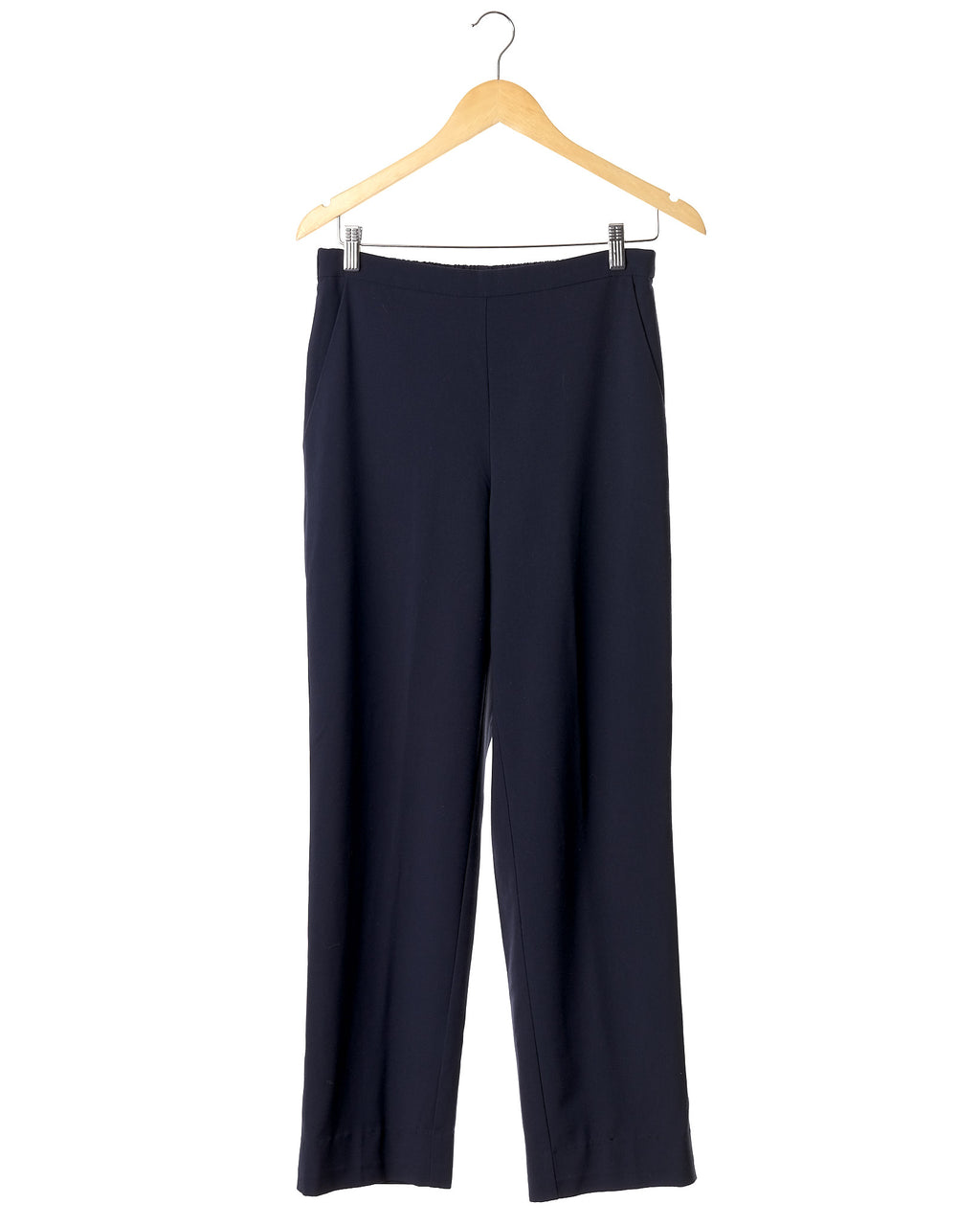 Classic Navy Loose Fit Trousers