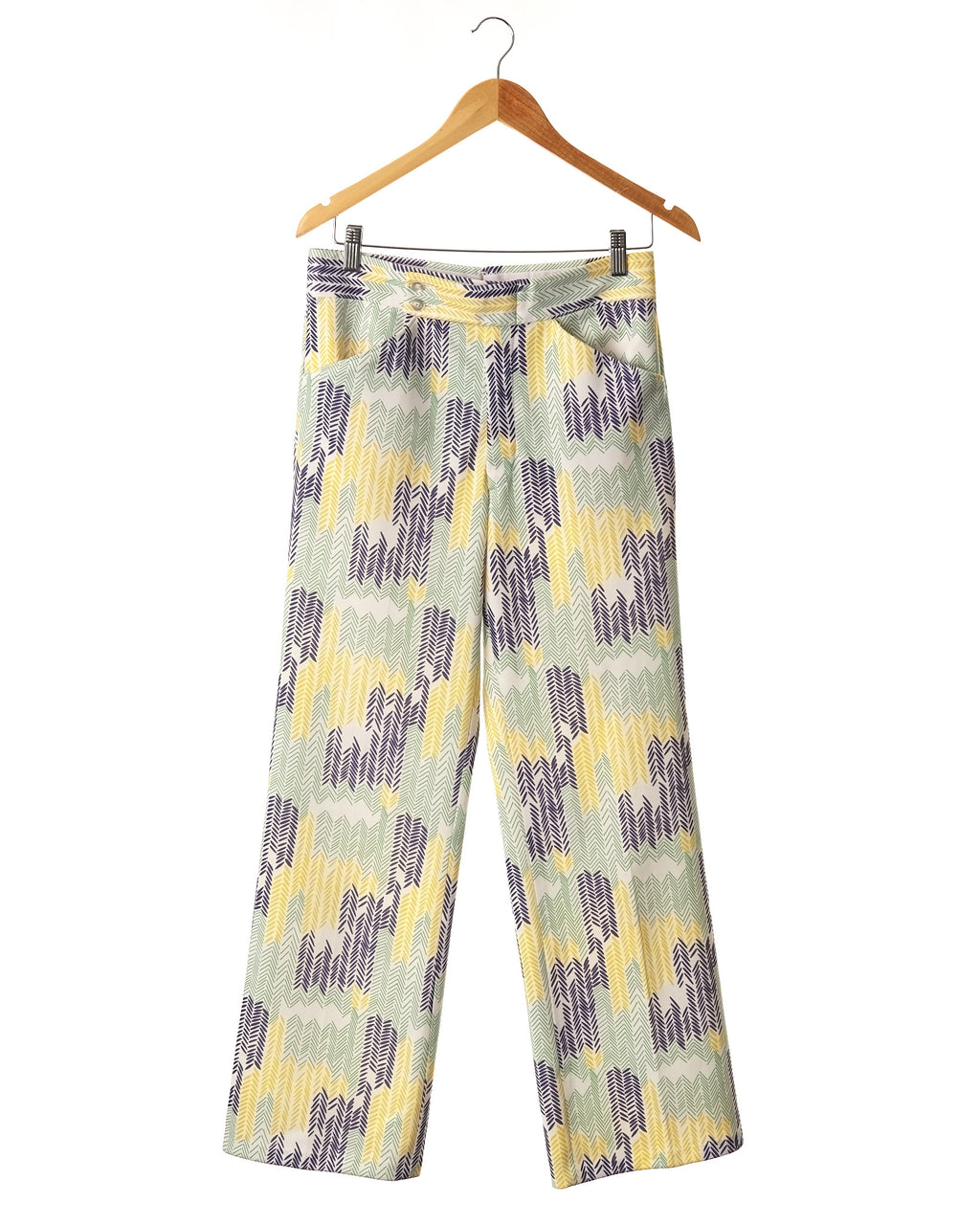Bold Print Menswear Style Vintage Trousers