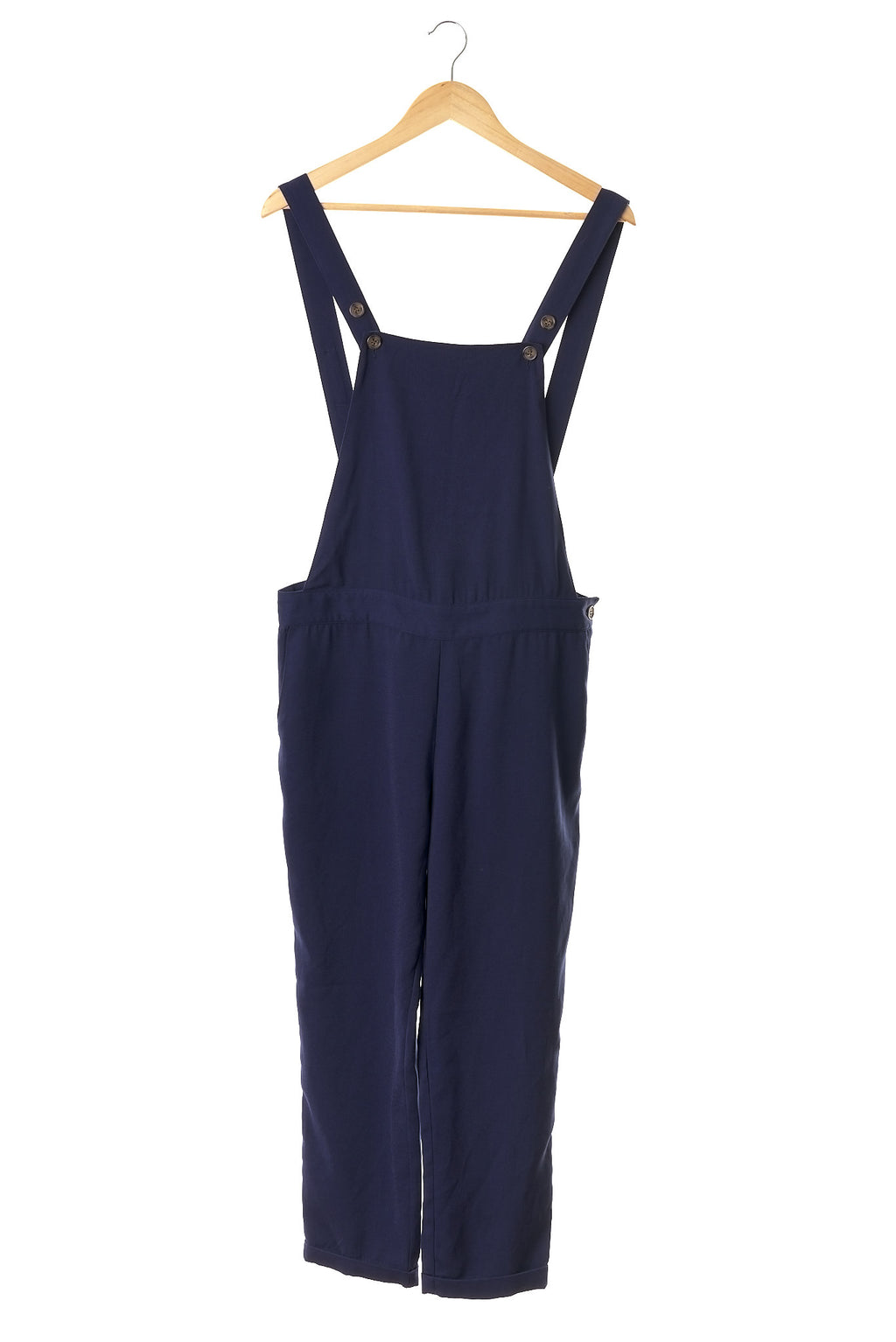 Navy Designer Dungaree Jumpsuit