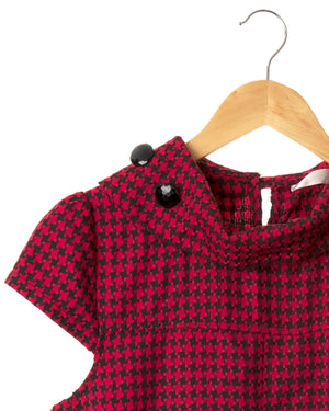 Vintage Red Houndstooth Dress