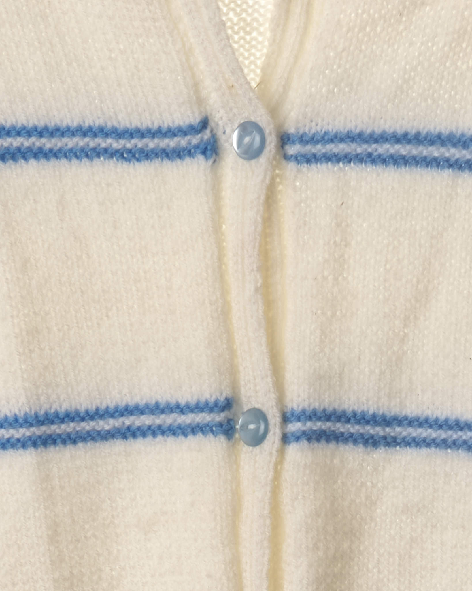 Vintage Baby Blue Stripe Knitted Cardigan
