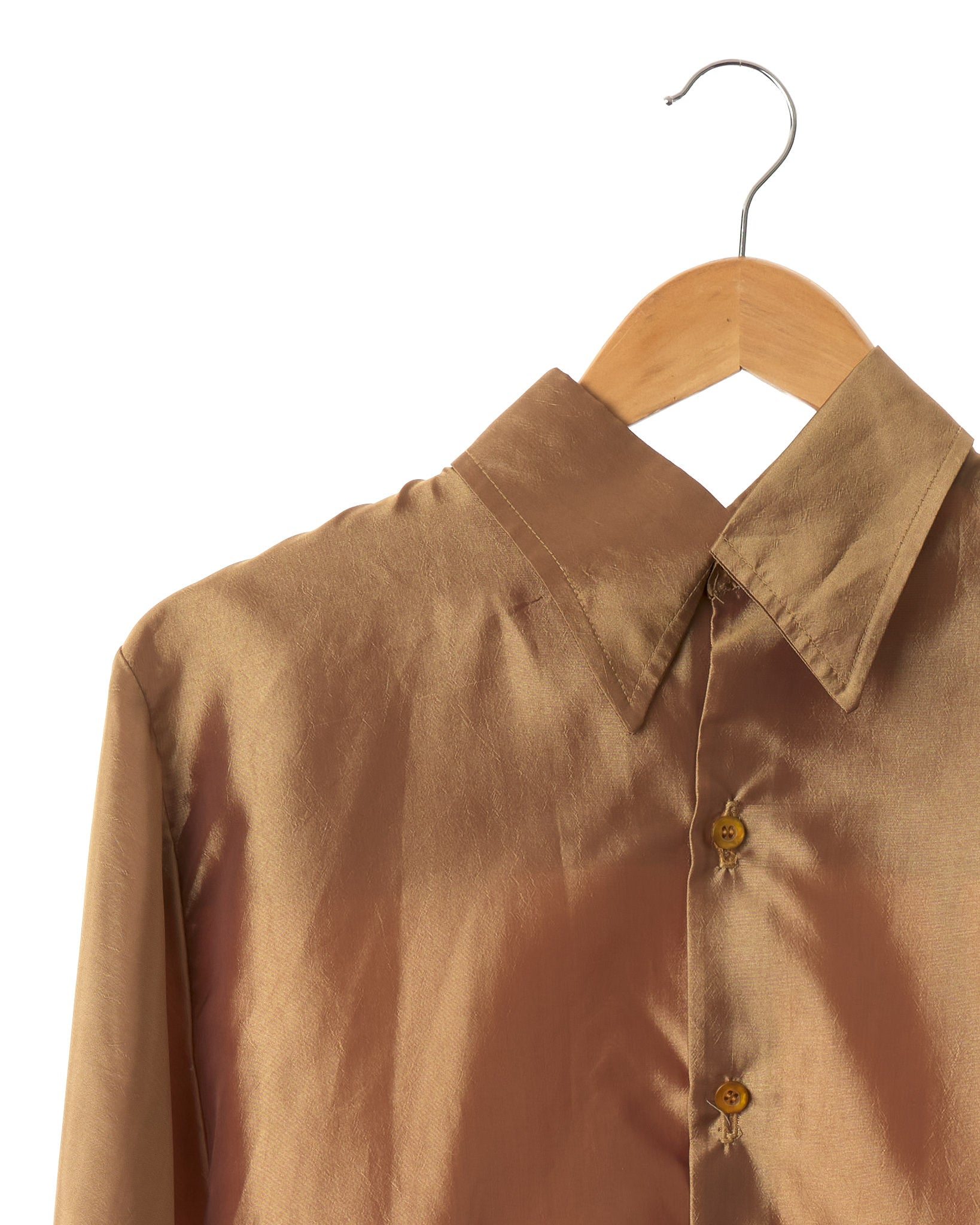 Vintage Gold Satin Shirt