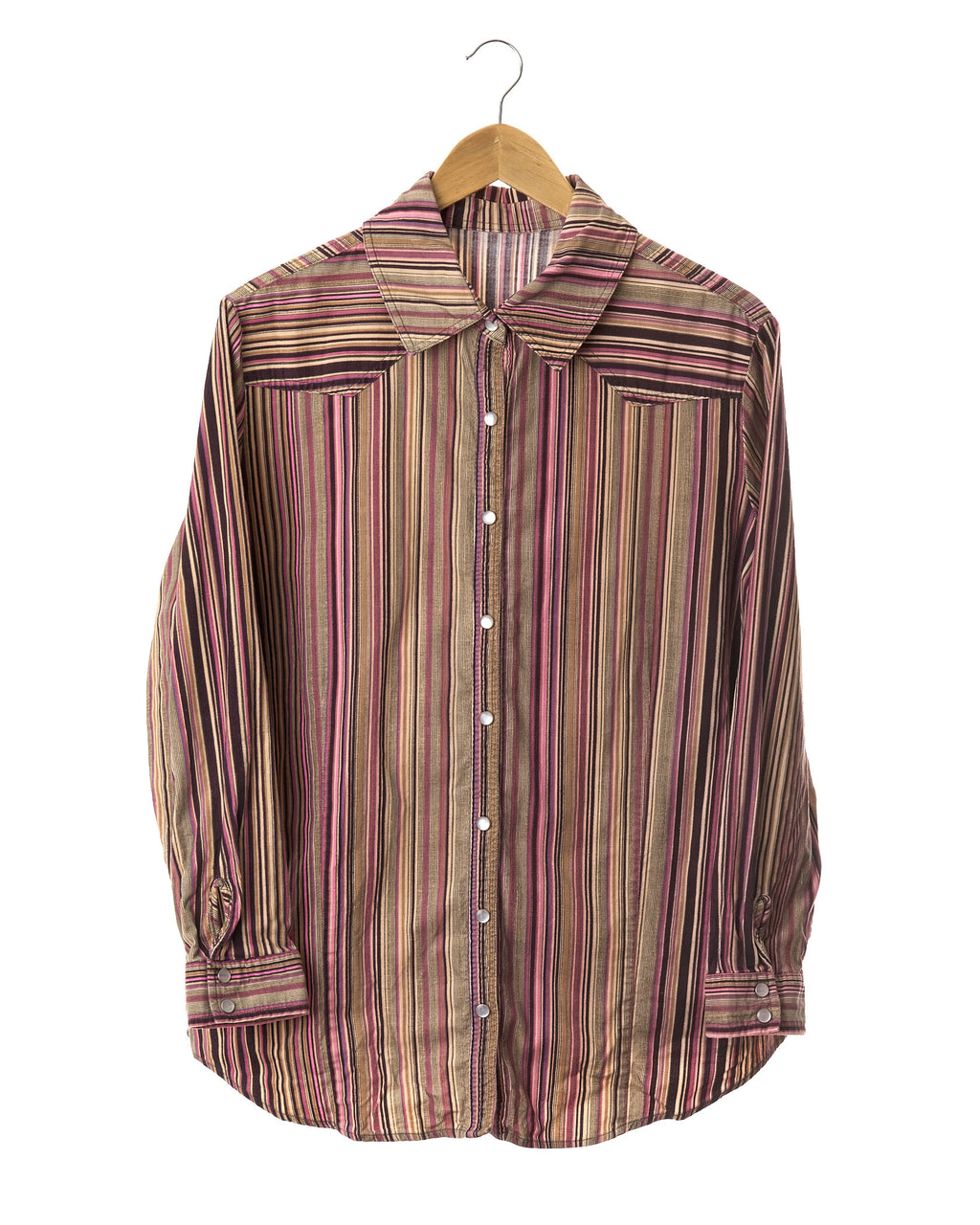 Retro Striped Corduroy Shirt