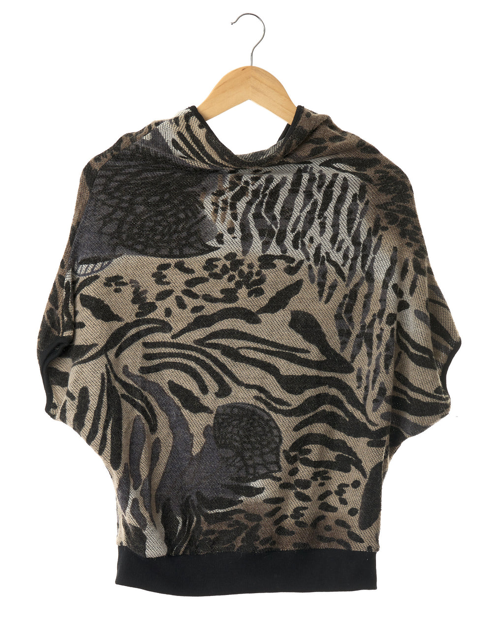 Vintage Animal Print Knit Top