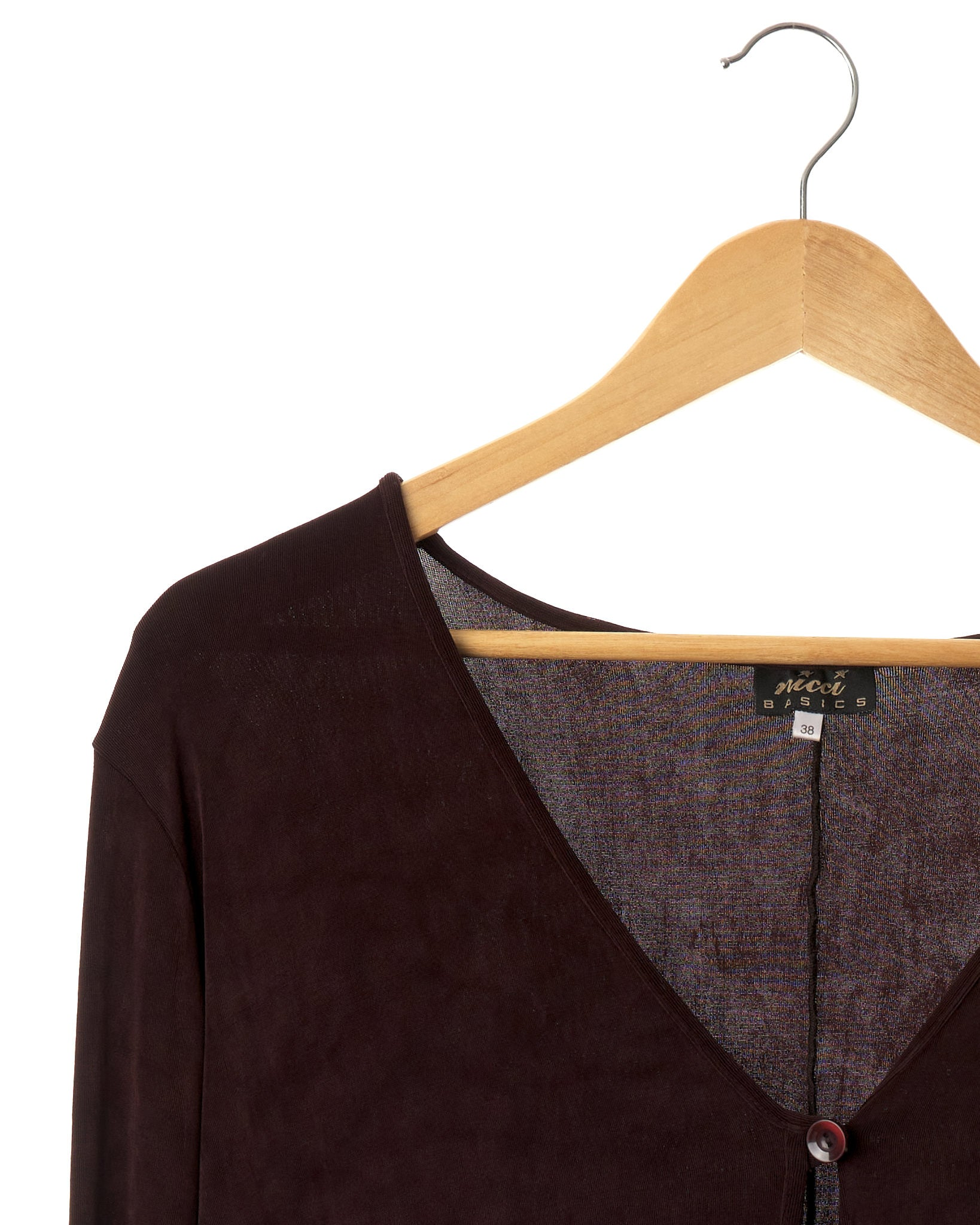 Deep Plum Lightweight Cardigan