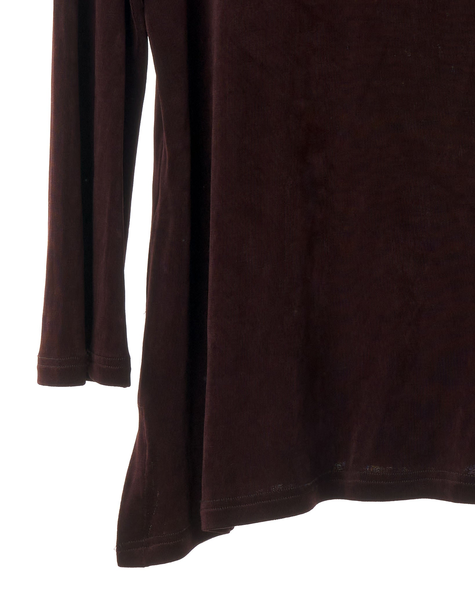 Deep Plum Cowl Neck Top