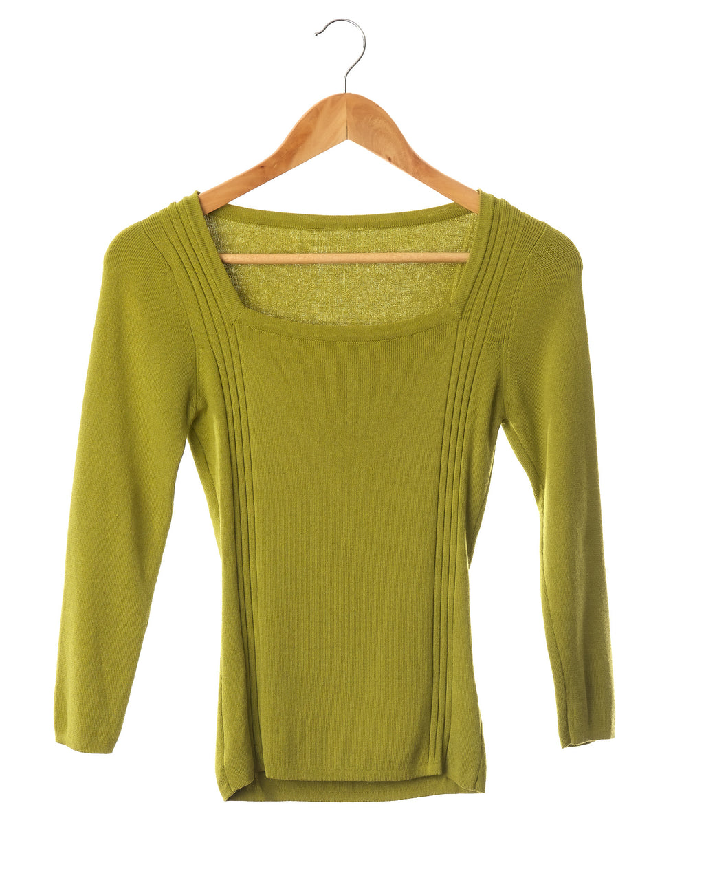 Lime Green Knit Top