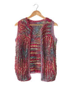 Rainbow Knit Vintage Cardigan