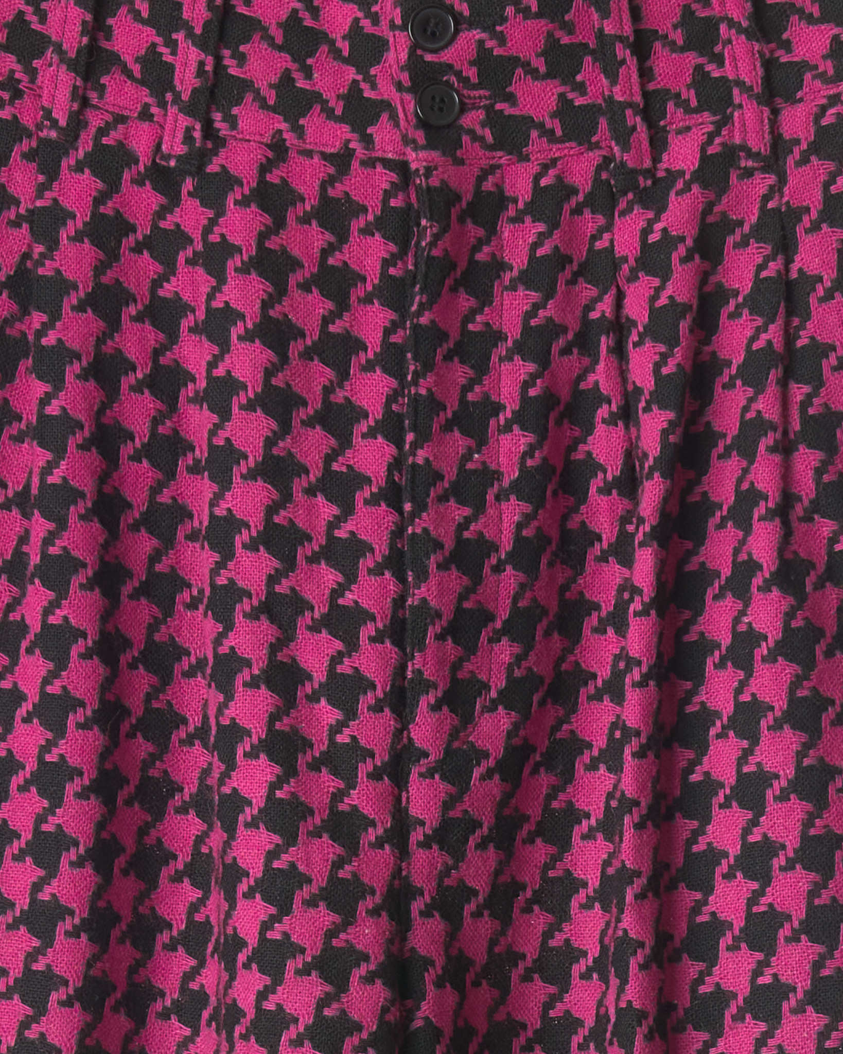 Hot Pink Houndstooth Vintage Trousers
