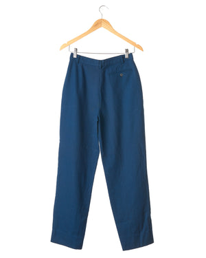 Cobalt Blue Vintage Wool Trousers