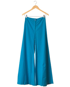 Azure Blue Vintage Cotton Bellbottoms